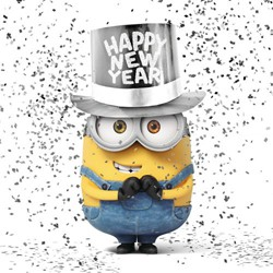 Buon anno Minions happy new year minions
